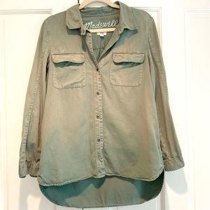 Madewell Army Green Cargo Shirt